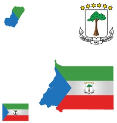 Republic of Equatorial Guinea Flag vector image vector image