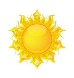 yellow sun vector image vector image