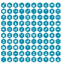 100 child center icons sapphirine violet vector