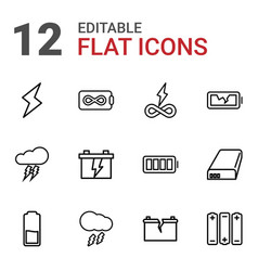 12 charge icons vector