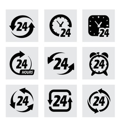 24 hours symbols vector image