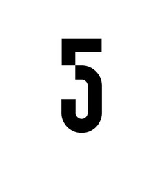 5 five number logo icon sign vector image
