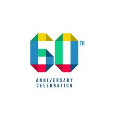 60 th anniversary celebration template design vector