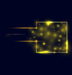 abstract gold glitter sparkle trail effect vector image