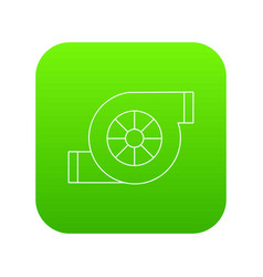 Air filter car icon green vector