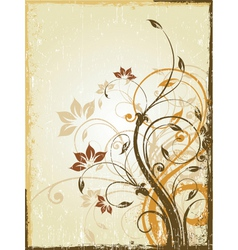 antique floral background vector image