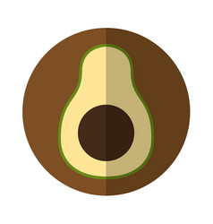 Avocado fresh vegetable isolated icon vector