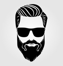 bearded men hipster face vector image