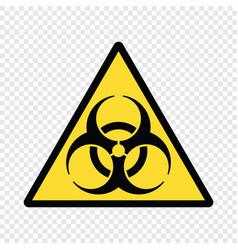 biohazard symbol biological warning vector image