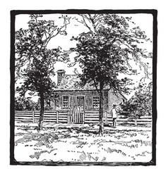 birthplace general ulysses s grant vintage vector image