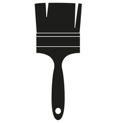 Black and white paint brush silhouette vector