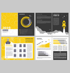 Brochure layout template anual report business vector