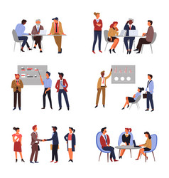 Business teamwork and co-working presentation or vector