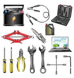 Car service tool car vector