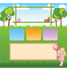 Child template for web site vector