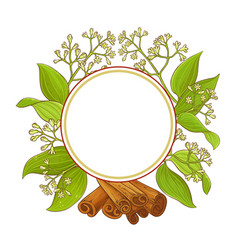cinnamon frame vector image