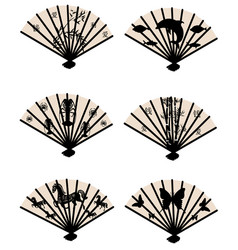 Collection color fans vector
