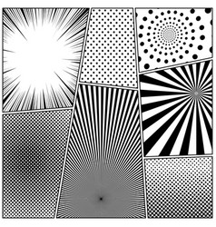 comic monochrome design composition vector image