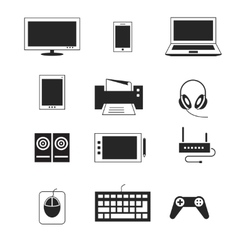 Computer electronic device templates vector image