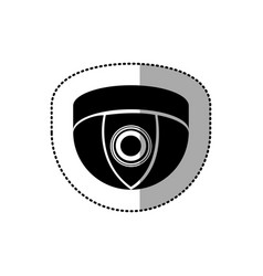 Contour video camera technology computer icon vector