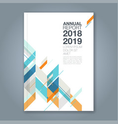 cover annual report 143 vector image