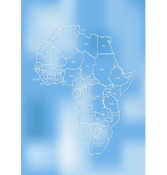Creative map of the African continent vector image