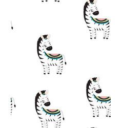 cute little zebra print vector image