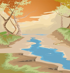 Drought and forest vector image vector image