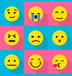 emotional icons set flat style vector image