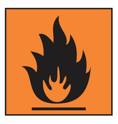 flammable hazard symbol vector image