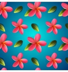Frangipani seamless pattern Songkran Festival vector