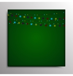 Garland on a green background Eps 10 vector image