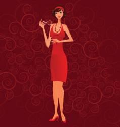 Girl in red vector