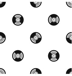 gramophone vinyl lp record pattern seamless black vector image