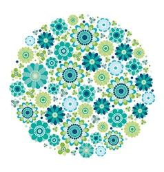 Green design - Flower circle vector image