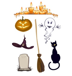 Halloween clipart set of icons vector