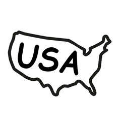 Hand-drawn map of the united states of america vector