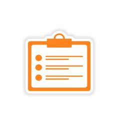 Icon sticker realistic design on paper form vector