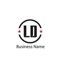 initial letter ld logo template design vector image