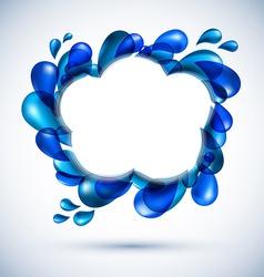 Liquid water cloud background vector image