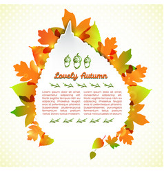 Lovely autumn greeting card vector