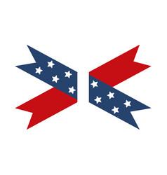 memorial day ribbon stars ornament american vector image
