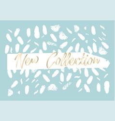 new collection fashion header confetti vector image
