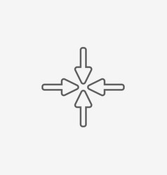 New flat arrow vector
