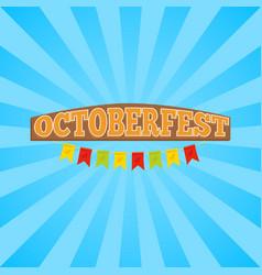 Oktoberfest promo banner vector