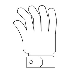 palm icon outline style vector image