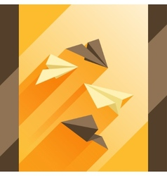 Paper planes in flat design style vector