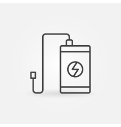 Power bank outline icon vector image