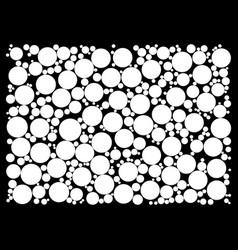 random dots on black background vector image