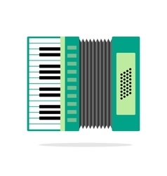 Real Accordion flat icon isolated on background vector